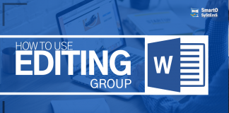 How to use Home tab editing group