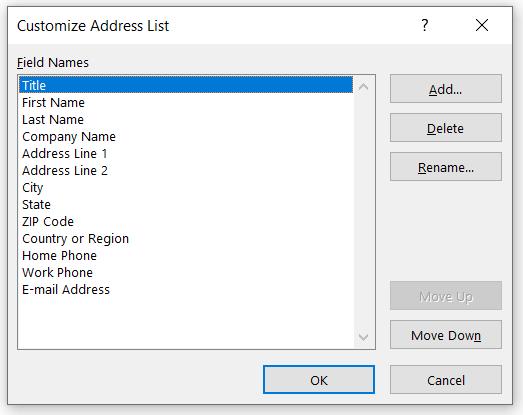 customize address