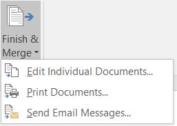 finish mail merge