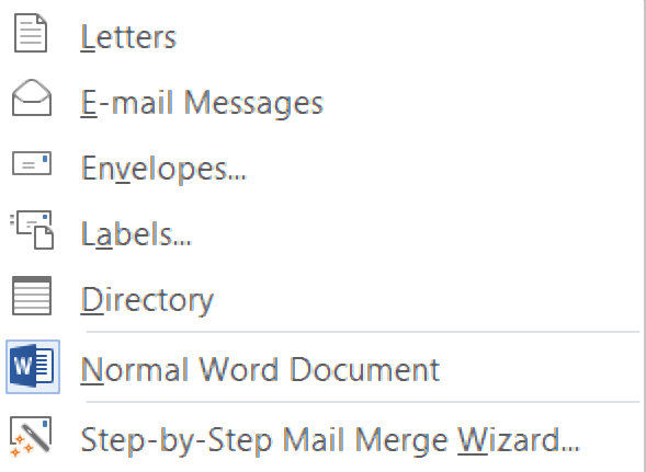 start mail marge