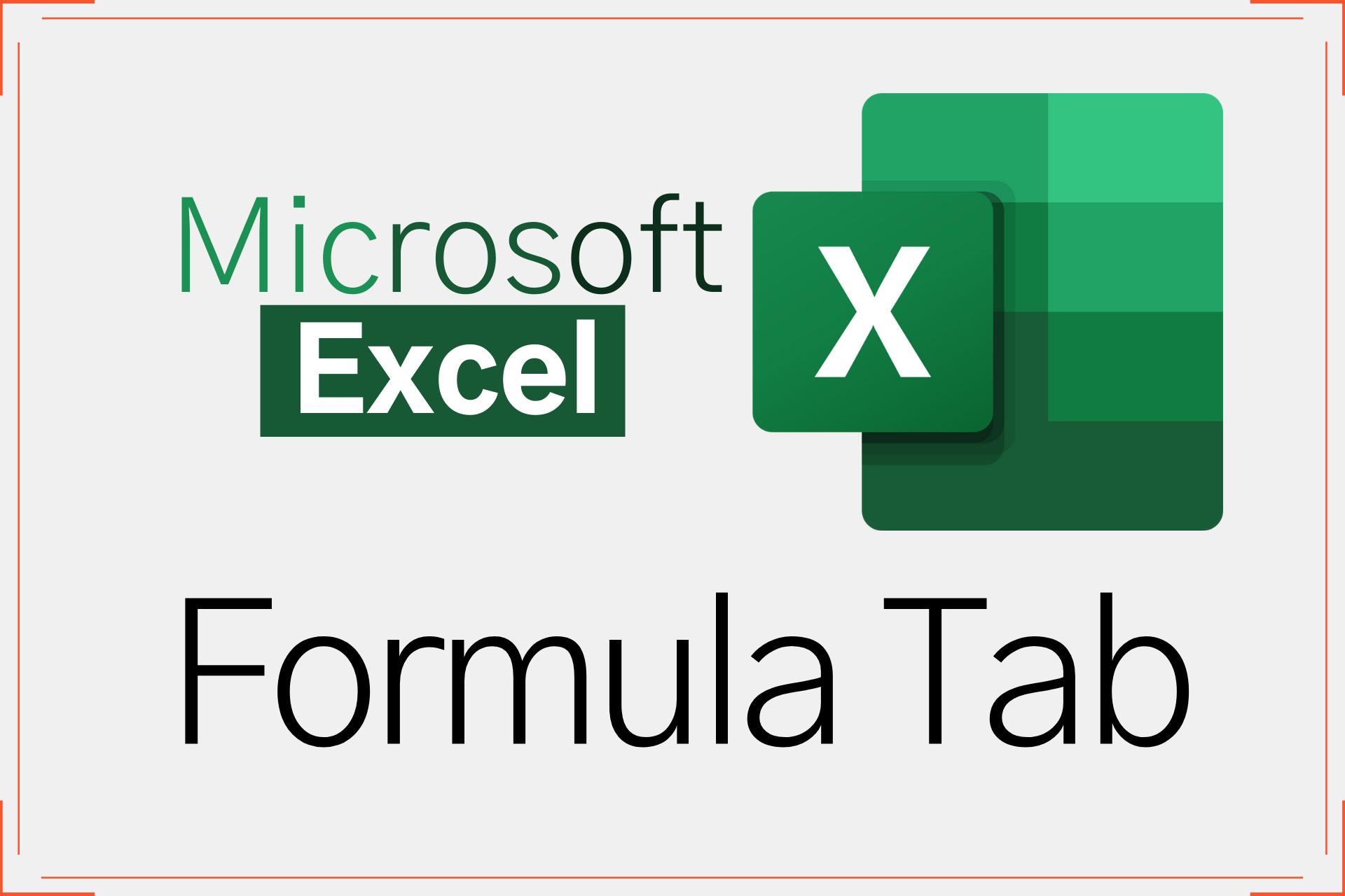MS Excel formula tab in Hindi 2021