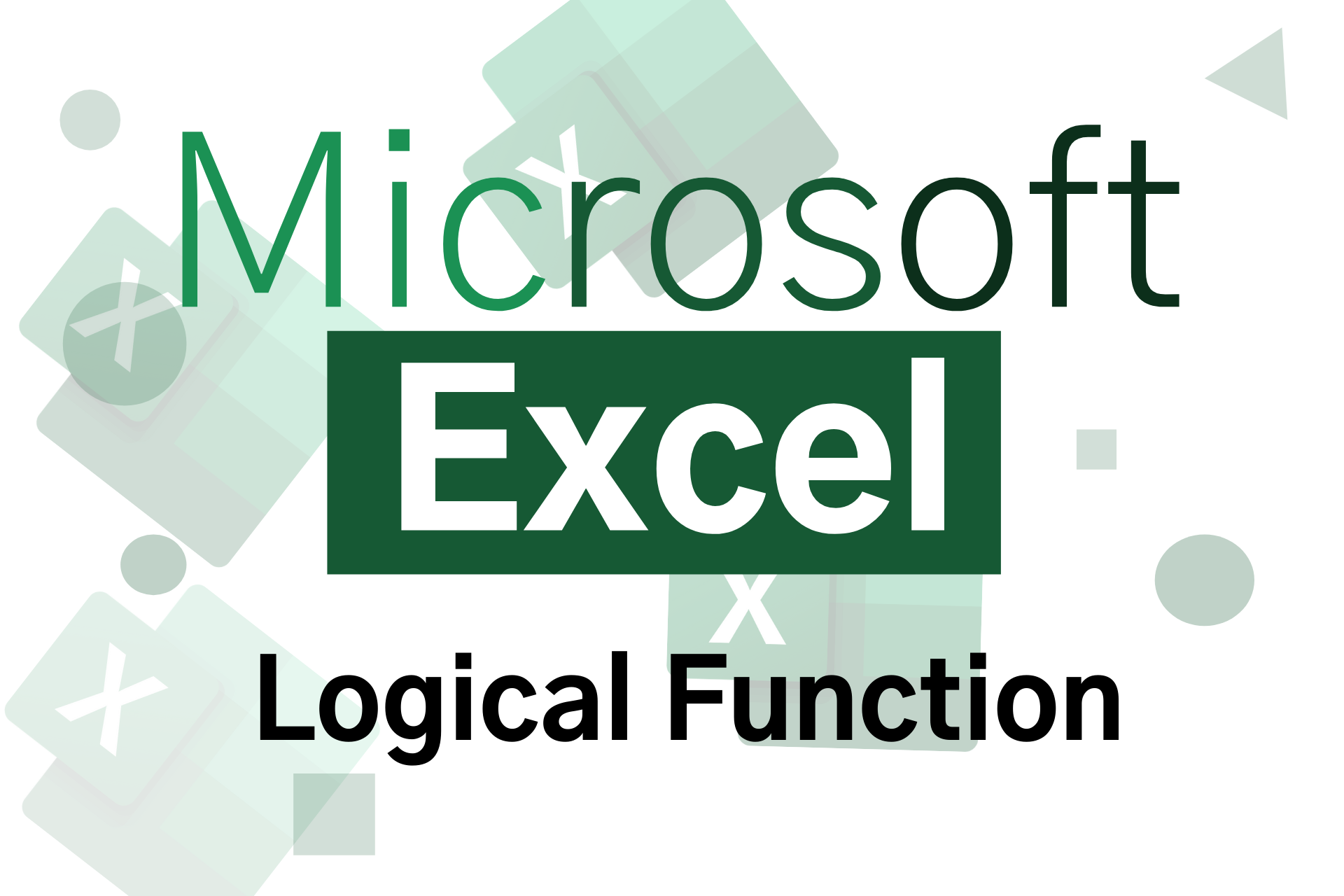 MS Excel logical function in Hindi