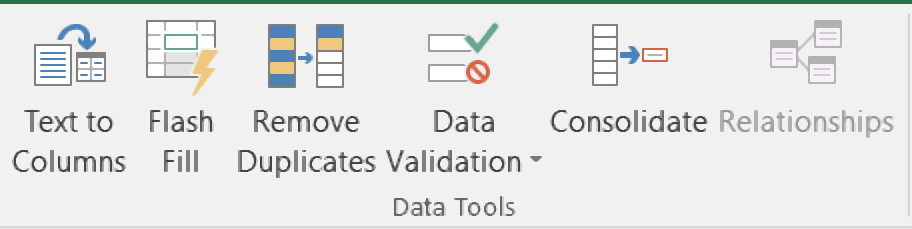 how to use data tools group