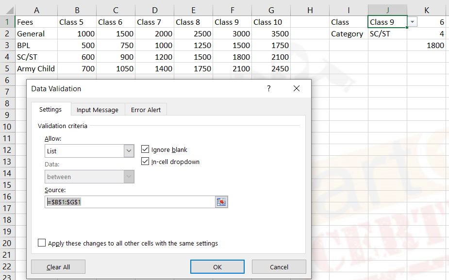 How to use data validation in ms excel