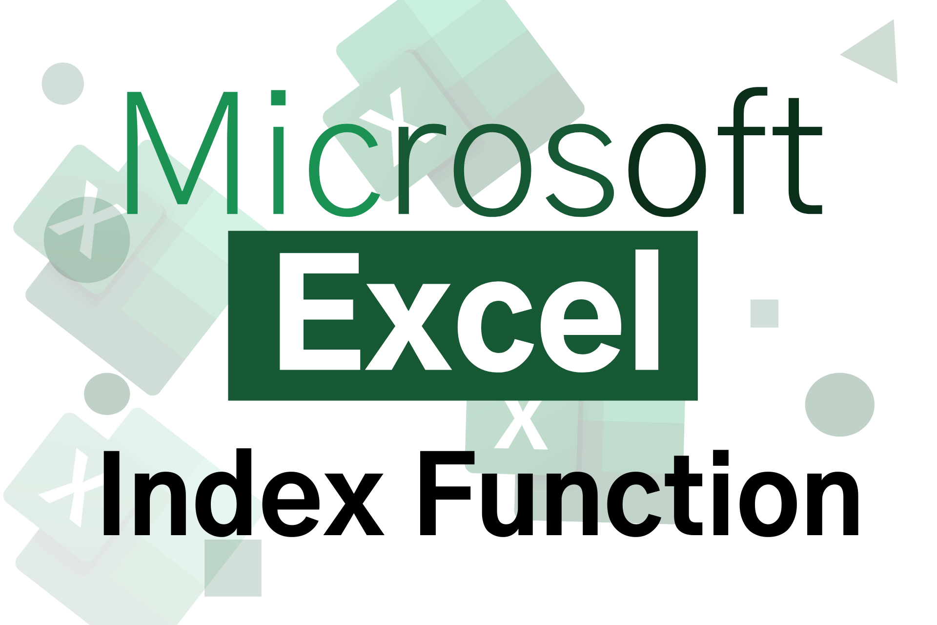 index functiopn