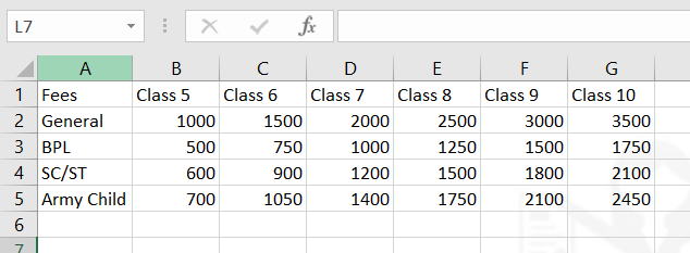 ms excel function