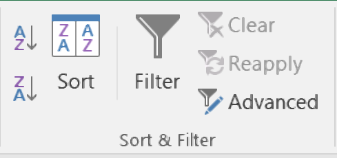 ms excel short and filter hindi