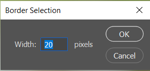 border selection in photoshop
