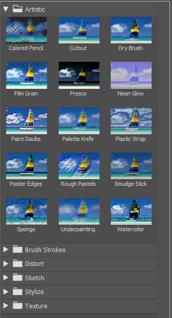 photoshop filter gallery