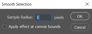 smooth selection in photoshop