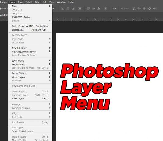 Photoshop Layer menu in Hindi